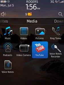 Blackberry os 6 - новые скриншоты мультимедийных разделов