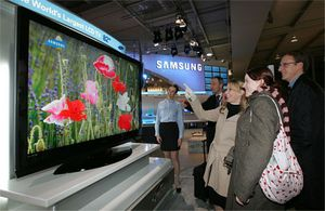 Cebit-2005: телевизор samsung рекордного размера