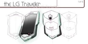 Концепт телефона lg traveler