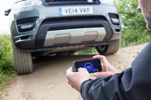 Land rover сделали прототип автомобиля с дистанционным управлением со смартфона