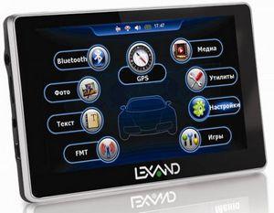 Lexand st-5350 hd: 5-дюймовый навигатор с экраном высокого разрешения