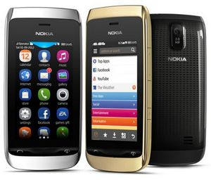 Nokia представила два новых сенсорных телефона. фото