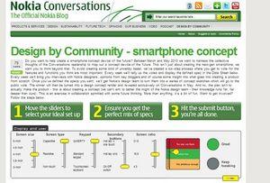 Nokia просит помочь с дизайном мобильников