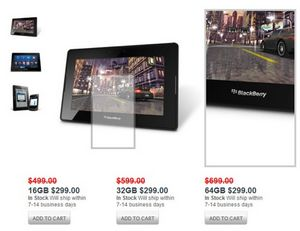 Обвал цен на планшеты: blackberry playbook подешевел в разы