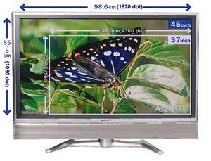 Sharp: самый большой жк-телевизор высокой четкости
