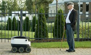 Сооснователи skype разработали передвигающегося по тротуарам робота-курьера