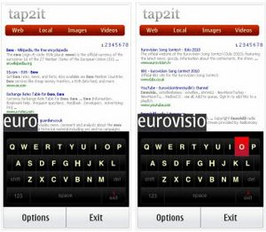 Tap2it – моментальный поиск по локальным и веб-ресурсам на смартфонах symbian