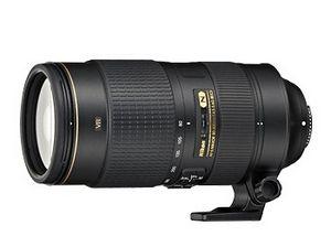 Телескопический зум-объектив af-s nikkor 80–400mm f/4.5–5.6g ed vr