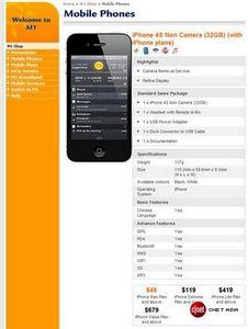 В сингапуре будут продаваться iphone 4s без обеих камер